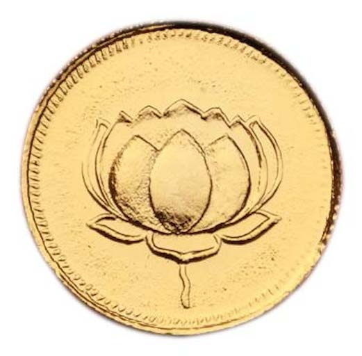 Lakshmi-Lotus coins - set of 6